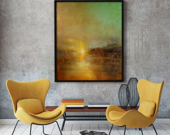 Sunset at Turners Cove by William Turner Modern Painting Abstract Painting Oil Painting Fine Art Reproduction Sunset Painting Sunset Art