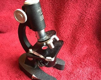 Vintage Crescent Microscope