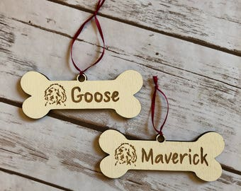 Goldendoodle ornament, goldendoodle christmas ornament, wooden ornament, wooden goldendoodle ornament