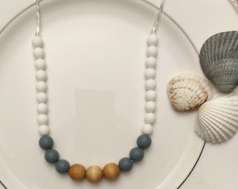 silicone teething necklace - dynamic chewelry - aria