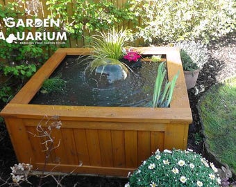 Raised Square Garden Fish Pond / Water Feature (700 Litres)