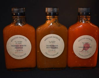 Variety Pack (s) ~ 6.7 Oz ~ Heat Level 1 ~ 5 ~ All Natural Hot Sauce