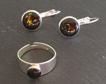 Hand crafted Earrings and ring set