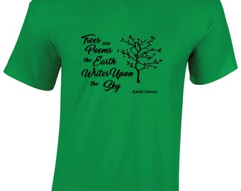 Kahlil Gibran quote on T-Shirt; Lebanese Poet Author Writer Intellectual Tee Students Teacher Art History