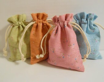 10x13 cm Linen Jewelry Bags Drawstring Bags Gift Bags Fabric Bags Cloth Bags Favor Bags Pastel Colors Muslin Jewelry Pouches Jewelry Storage
