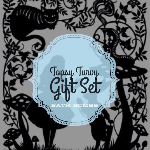 Topsy Turvy Gift Set - Wonderland Collection - 6pcs Bath Bomb