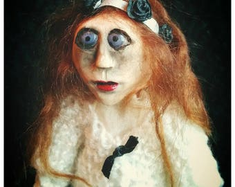 OOAK art doll Gothic cold porcelain
