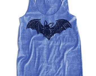 Bat Graphic print Women's Racerback Tank Top