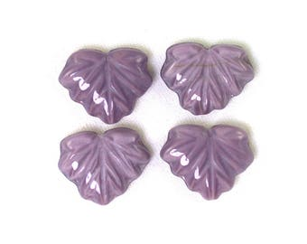 Light Purple opaque silk finish  13 x 11mm maple leaves. Set of 20 or 40.