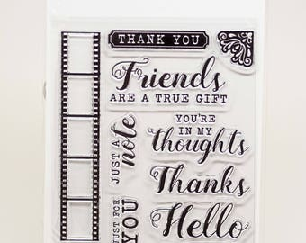 KaiserCraft Keepsake Collection Clear Stamps -- Acrylic -- Film Friends