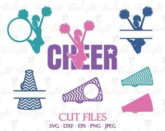 Cheerleader SVG Cut Files, Cheerleading Svg Cut Files, Cheer Cut Files, Megaphone Cut Files, Dxf / Eps / Png / Jpeg Files 0076