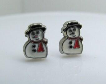 Tiny Snowman Earrings