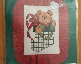 Christmas Cross-Stitch Kit    STOCKING STUFFER by Bucilla