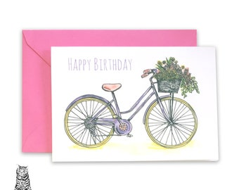 A5 Birthday Bike Card