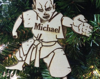Martial Arts 1 Personalized Christmas Ornament