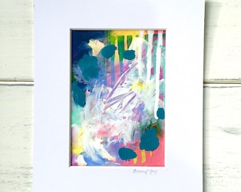 SALE Abstract Original Matted Painting #2