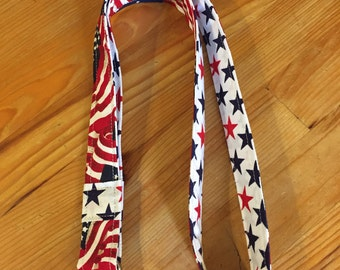 Teacher lanyard, USA lanyard, flag lanyard, Patriotic Lanyard, breakaway lanyard