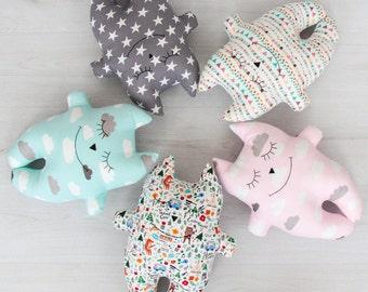 FREE SHIPPING Cat Pillow, Stuffed Cat, Pillow, Nursery Decor, Soft Toy, Plush Animal Toy, Kids Room Decor, Cat Cushion, Decorative Pillow