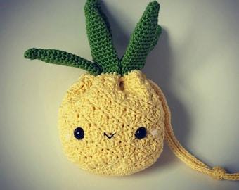 Handmade Crocheted Pineapple Purse