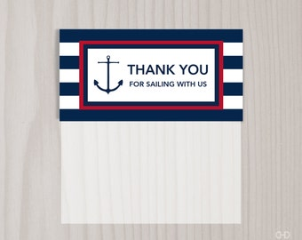 Preppy Nautical Favor Bag Toppers, PRINTABLE Treat Bag Toppers, Goody Bag Toppers, Baby Shower or Happy Birthday Goodie Bag Favor Tags