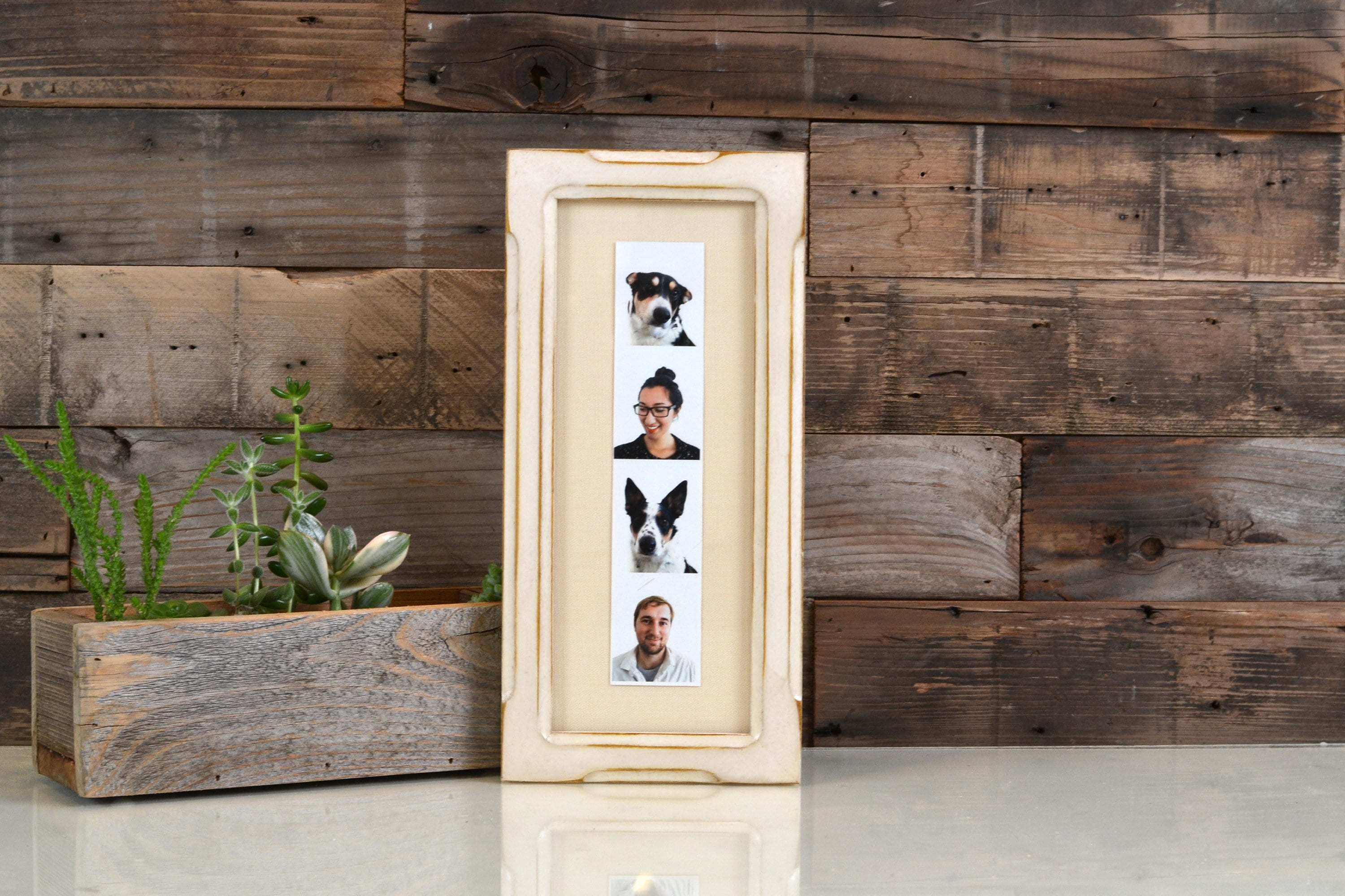 4x10 Picture Frame for PHOTO BOOTH STRIP in Shallow Bones Style and ...