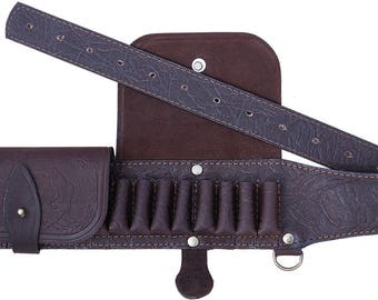 Bandolier genuine leather for hunting
