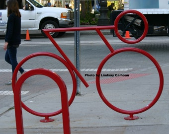 The Red Bike Rack - unframed 8x10 photo