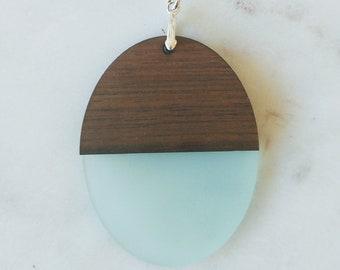 Walnut and Acrylic Laser-cut pendant
