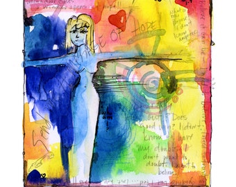 Painted Prayer No. 2 ...  art archival Spiritual print from original painting by Kathy Morton Stanion EBSQ