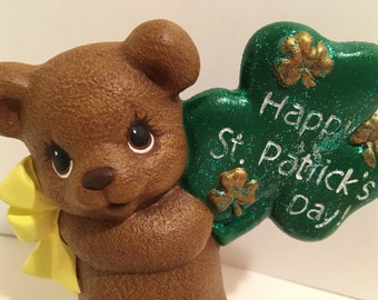 Handmade Happy St. Patrick's Day Bear