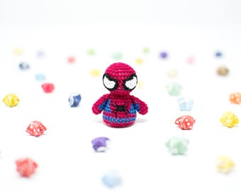 Spider-Man / Marvel / Crochet / Amigurumi / Plushie / Miniature / READY TO SHIP