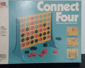 Vintage 1978 Milton Bradley - Connect Four - Vertical Checkers Game!
