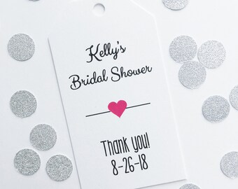 Bridal Shower Favor Tags, Customized Shower Tags, Bridal or Baby Shower Favor Tags (MLT-006)