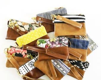Wristlet, Leather Wristlet, Wristlet Clutch, Evening Clutch, Leather Purse, Leather Bag, Leather Wrist Bag, Evening Bag, Bridesmaid gift