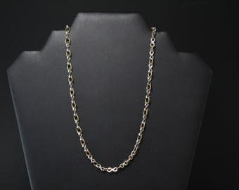 Sterling Silver and Brass Taxco Chain, Mexican Sterling Silver and Brass Chain, Taxco Chain Necklace, Sterling Silver Taxco Necklace