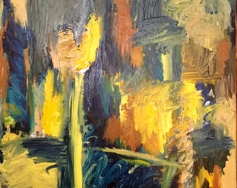 """Untitled series Painting 4 of 7.  Originals oil painting. 36""""x24"""" Abstract AGIM"""