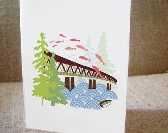 Old Sellwood Bridge Portland Notecards