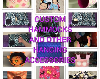 SALE 10% OFF Custom Hammocks and other Hanging Accessories for Guinea Pigs, Chinchillas, Ferrets, Rabbits, and other small pets