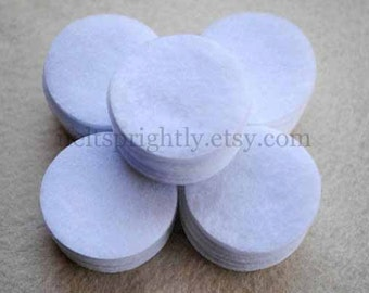 1.75 Inch Die Cut Felt Circles in White, OR your choice of colors, Set of 50