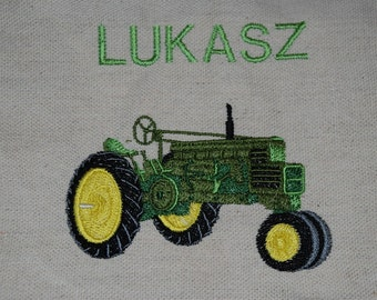 Kids Size Tractor Apron (green)