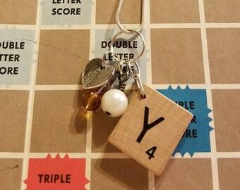 Scrabble tile Y necklace