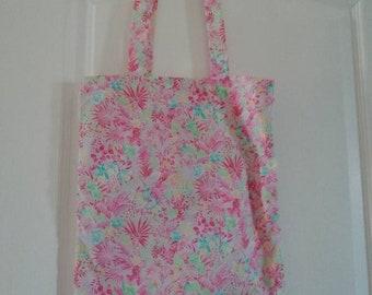 Tote bag floral pink
