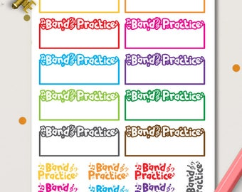 Band Practice Planner Stickers   Life Planner   Music Rehearsal   Concert  