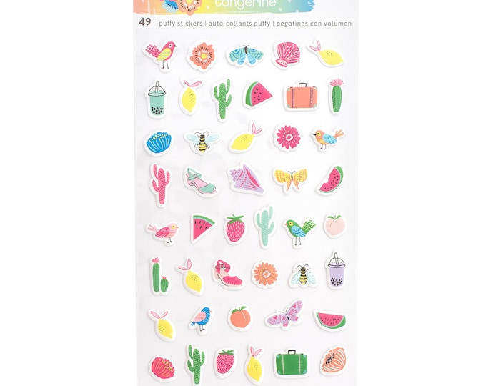 Sunshine and good times mini puffy stickers
