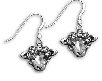 Sterling Silver Sheep Earrings