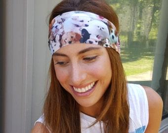 Running - Yoga Headband - Dog Lover Print - Nonslip Headband