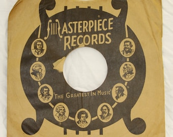 Masterpiece Records - Vintage 78 RPM Record Sleeve - 1940's