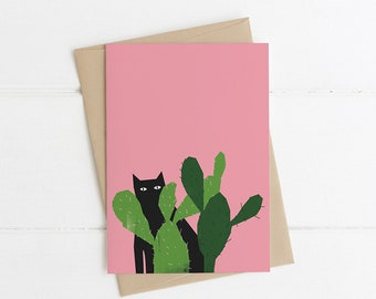 Cactus Cat Card