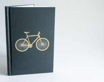 BIKE Notebook, Bicycle Notebook, Unique Sketchbook, Bike Journal, Cyclist Gift, Travel Journal, Personalized Notebook, Bike Diary