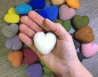 Assorted hearts 5cm-Felted heart for Newborn Photography-Felted prop-Valentines day-Stuffed heart-Needle felted heart-IT seller